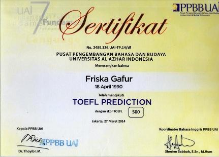 Toefl cv