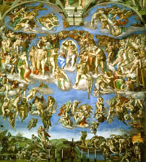 Last judgement by michelangelo cv