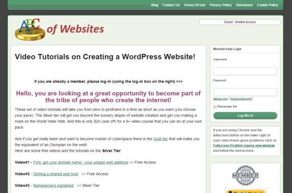 Abc of websites cv