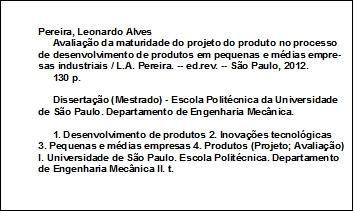 Ficha catalografica cv