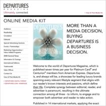 Departures online media cv