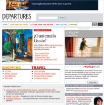 Departures web cv