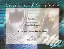 Access certificate cv