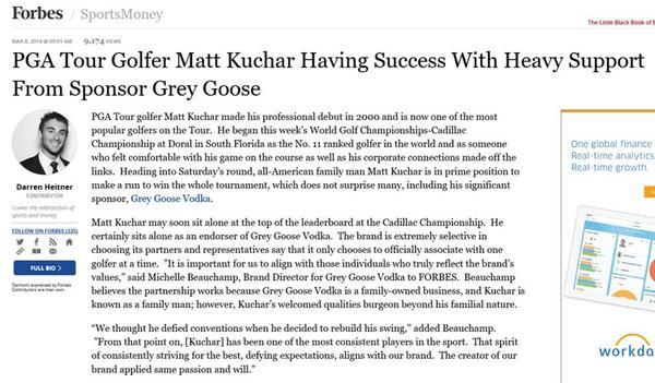Forbes kuchar grey goose cv