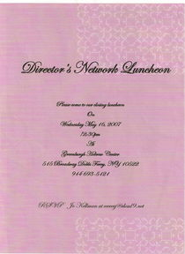 Directors luncheon invitation cv