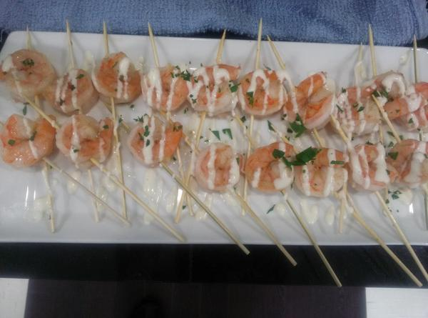 Shrimp skewers cv