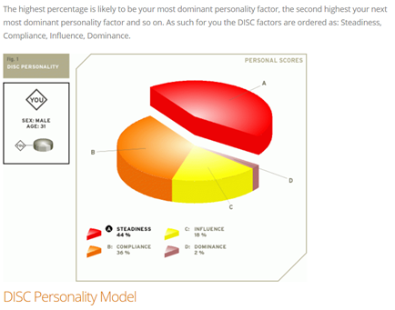 Disc personality cv