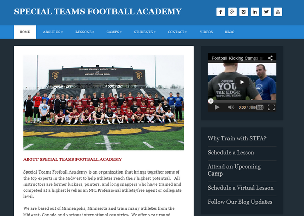 Special teams football academy cv
