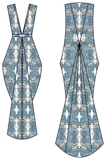 Updated female dress print cv