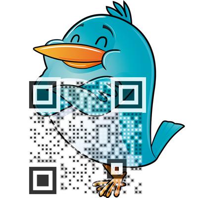 Twitter qr code design cv