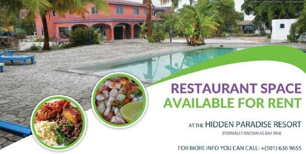 Hidden paradise resort restaurant ad cv