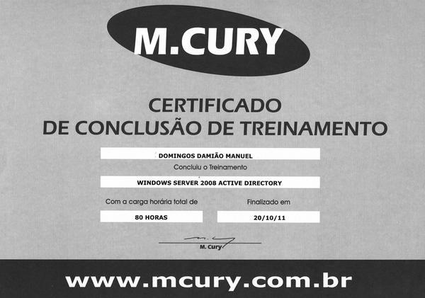 Certificado  3  cv