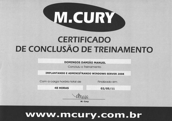 Certificado  2  cv