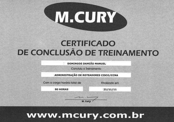 Certificado  6  cv
