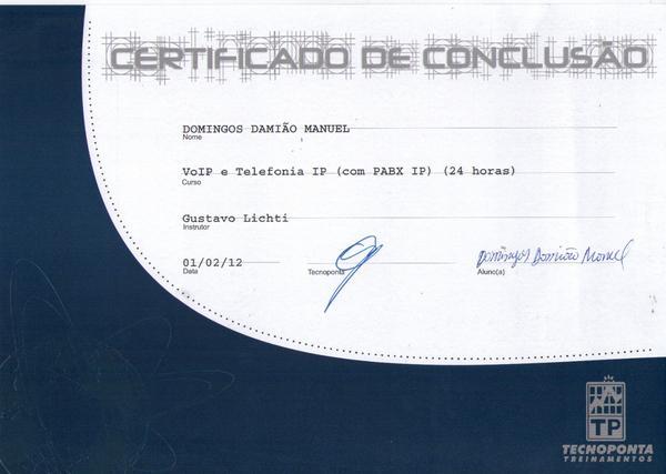 Certificado  12  cv