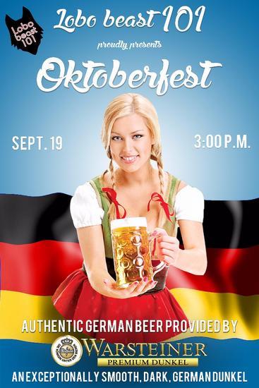 Oktoberfest poster door blonde cv