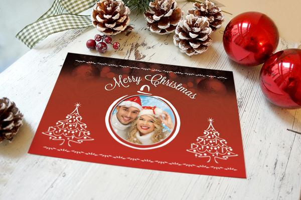 Christmas card mockup 02 cv