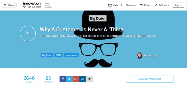 Why a customer is never a  thing    articles   big data   innovation enterprise cv