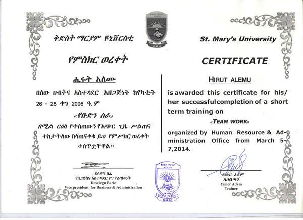 St marys certificate 2  cv