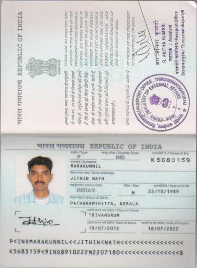 Passport 1 cv