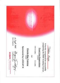 Kbr certificate cv