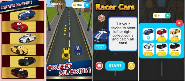 Racer cars 3d cv