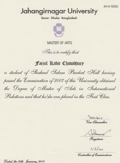 Certificat 001 cv