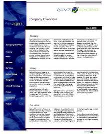 Company overview cv