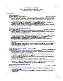 Resume thumbnail cv