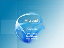 Microsoft presentation cover cv