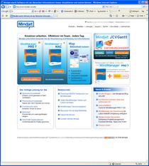De mindjet homepage cv