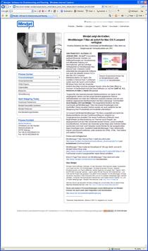 De mindjet press release jan 2008 page cv