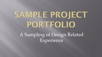 Sample proj portfolio cv