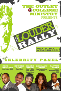 The louder rally flyer 2.0 front   template cv
