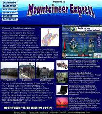 Mountaineerxpress main page cv