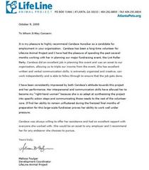 Reference letter from m. foulger lifeline cv