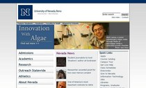 Unr website screen shot cv