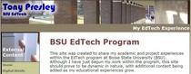Bsu edtech home page cv