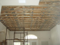 Indoor second floor trusses 2 cv
