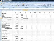 Office expenses screen shot cv