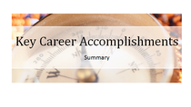 Key accomplishments cover cv
