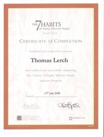 Certificare steven covey 7 habits course cv