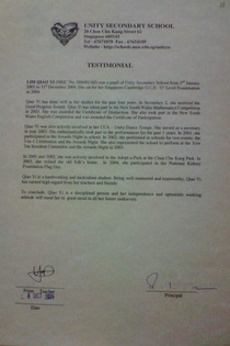 Testimonial cv