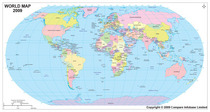 World map 2009 cv