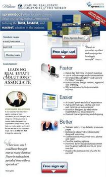 Xpressdocs leading re landing page screenshot cv