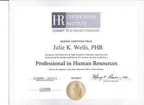 Phr certificate cv