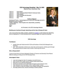 Ceo advantage speech 2005 cv