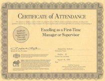 Certofattendance  excelling as a first time manager cv