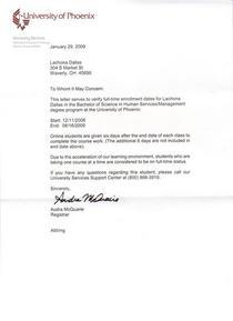 College letter cv