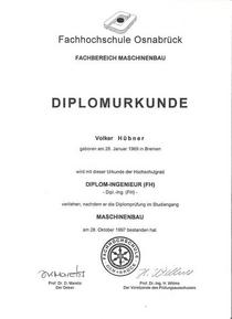 Diplomurkunde fh cv